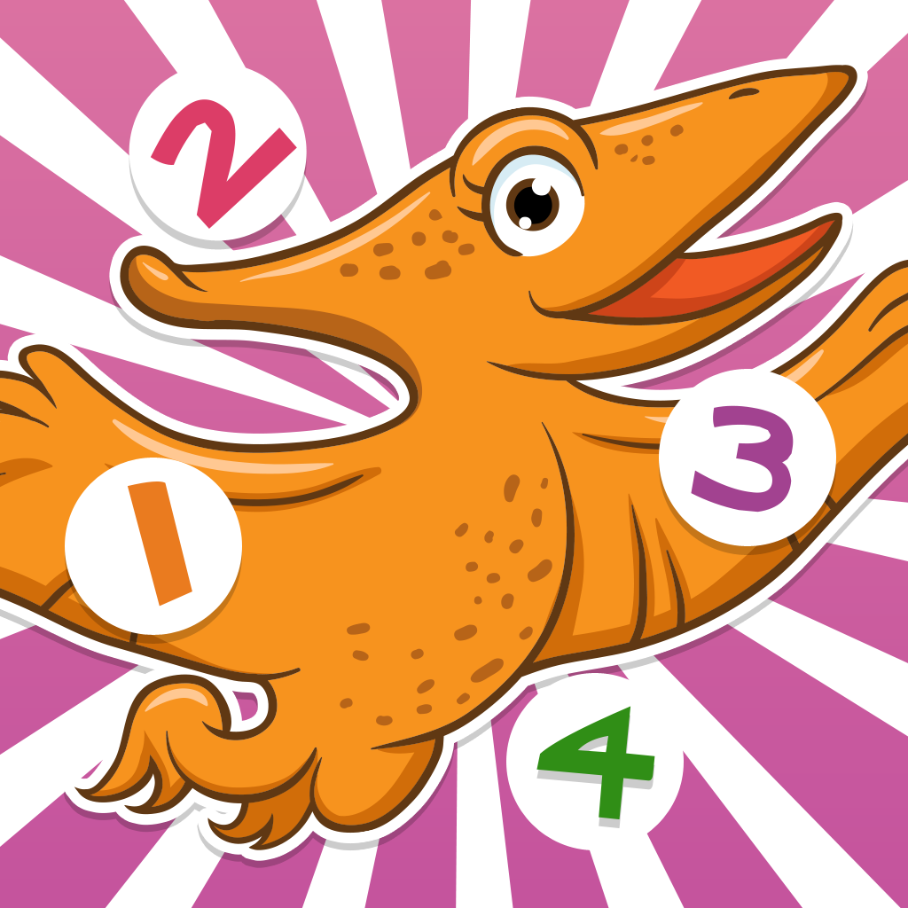 123 A Dinosaurs Counting Game for Children: Learn to count the numbers 1-10 with endangered animals